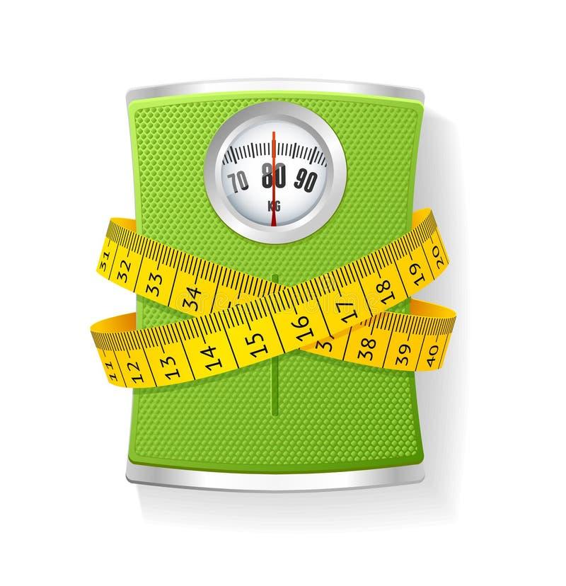传染媒介重量和卷尺 向量例证