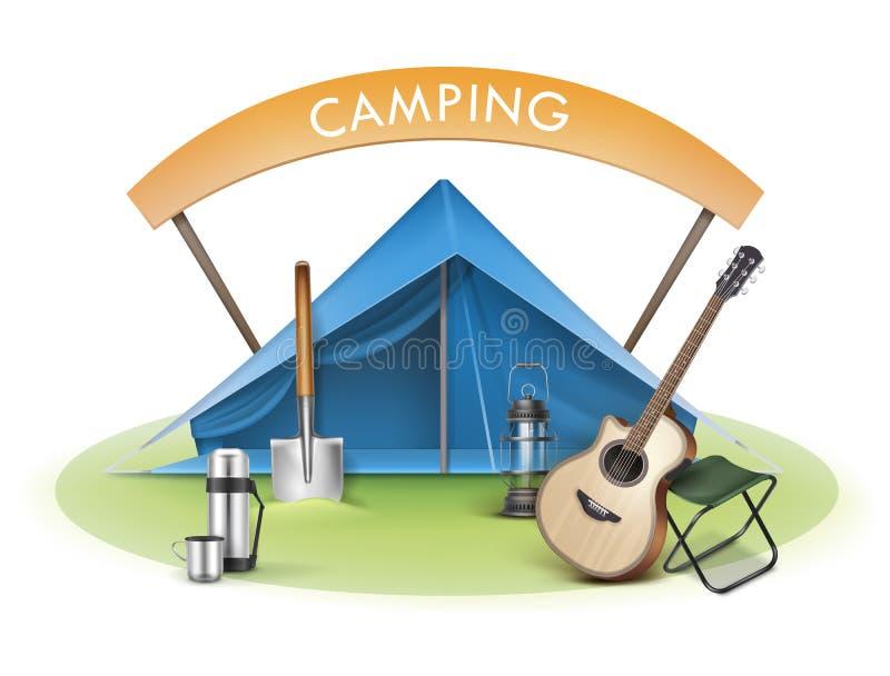 传染媒介野营的区域 向量例证