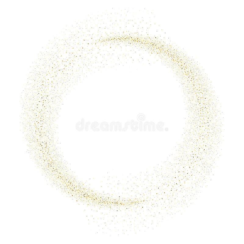 传染媒介金子闪烁波浪摘要背景 向量例证