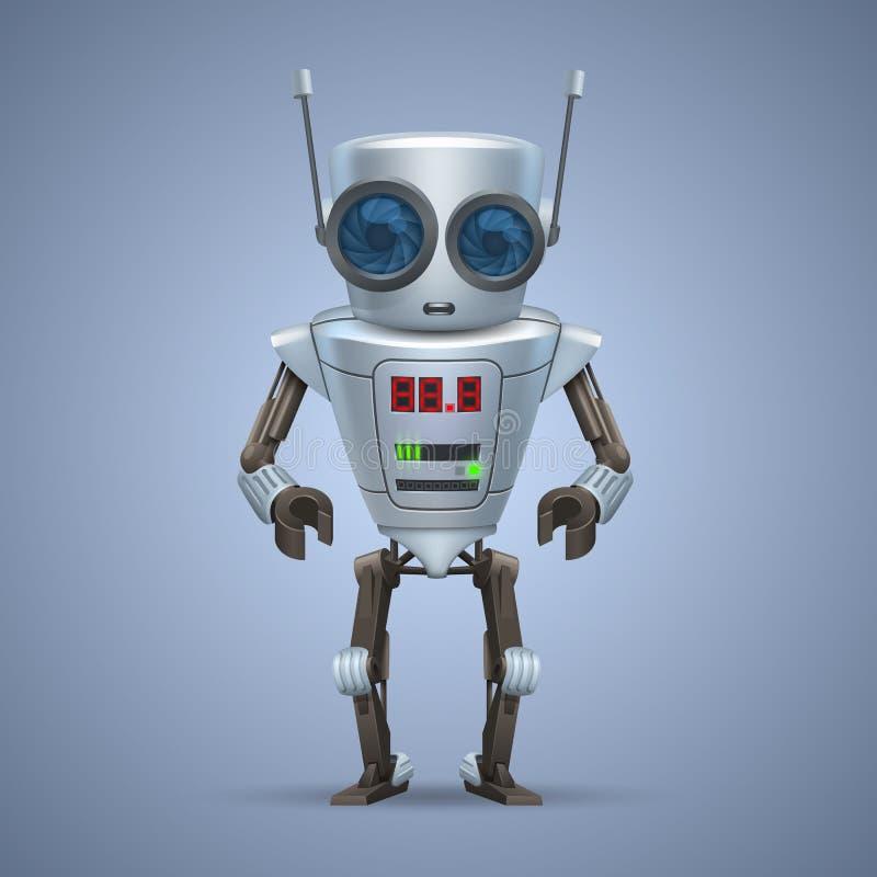 传染媒介金属机器人。 向量例证