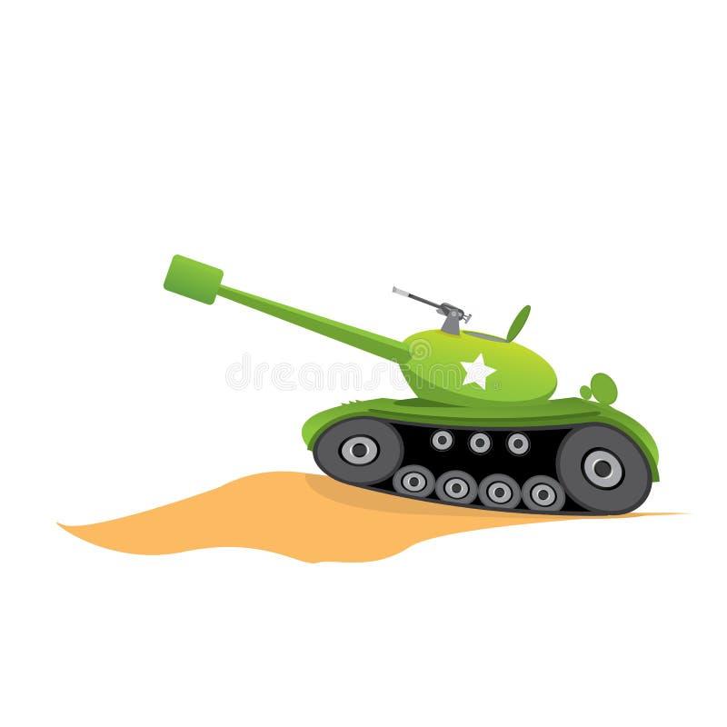 传染媒介陆军坦克 军事坦克 军队机器 库存例证