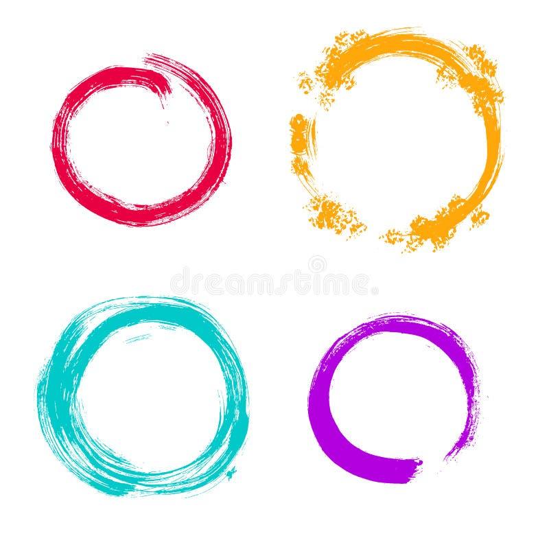传染媒介难看的东西圆的框架 手拉的收藏 皇族释放例证