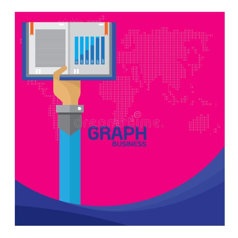 传染媒介集合企业书利润图表想法背景手和胳膊 向量例证
