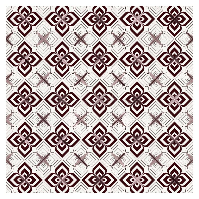 传染媒介集合无缝的样式 单色图形设计 皇族释放例证
