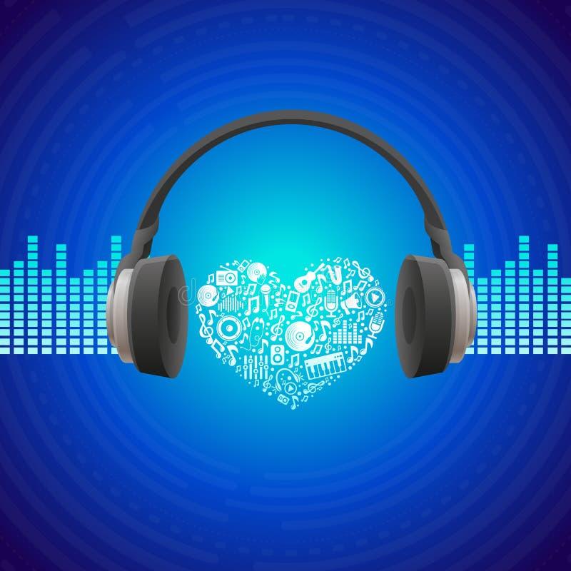 传染媒介音乐概念 向量例证