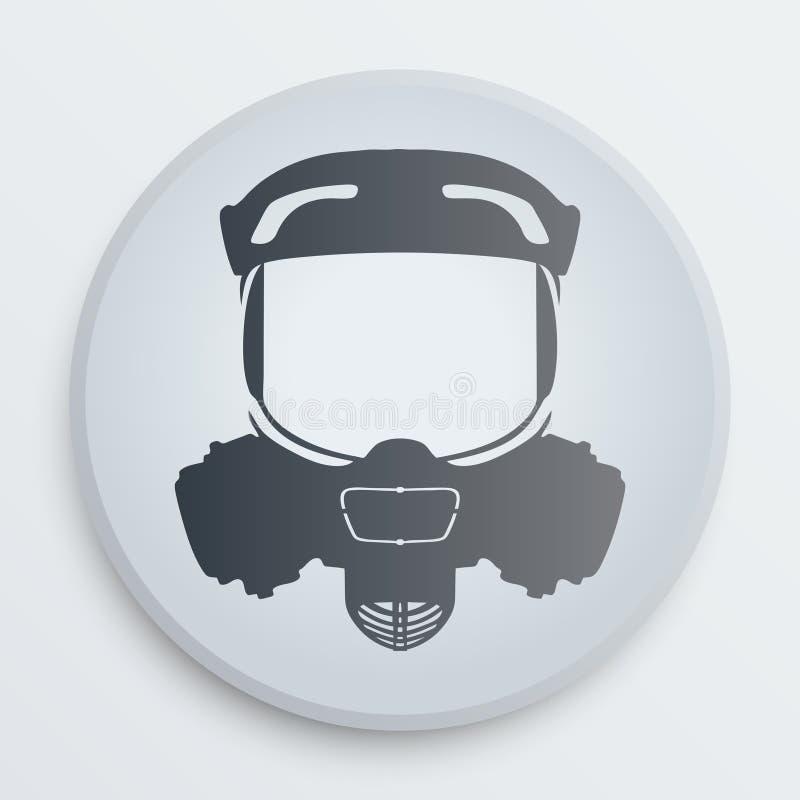 传染媒介顶头防毒面具标志 向量例证