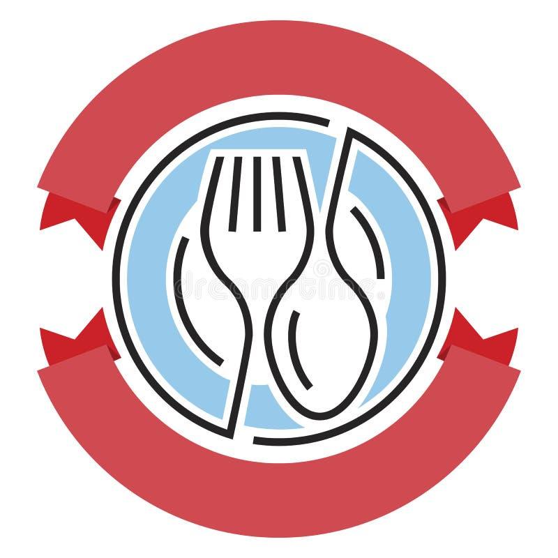 Download 传染媒介食品供应商标 库存例证. 插画 包括有 餐馆, 洗礼, 例证, 服务, 午餐, 正餐, 发运, 叉子 - 72358012