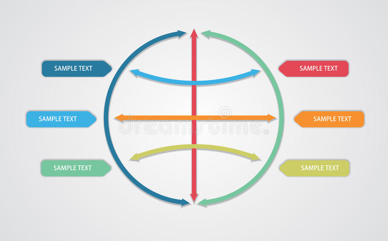 传染媒介,编辑可能的企业流程图模板 向量例证