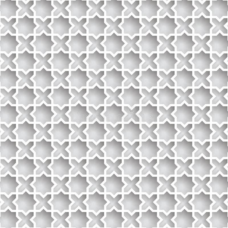 传染媒介3D回教纸图表 库存图片