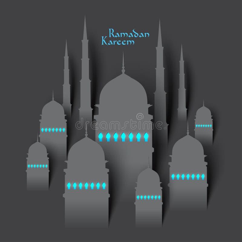 传染媒介3D纸清真寺 图库摄影