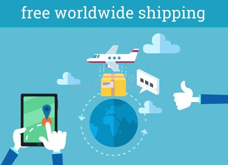 传染媒介infographic例证自由运输全世界 向量例证