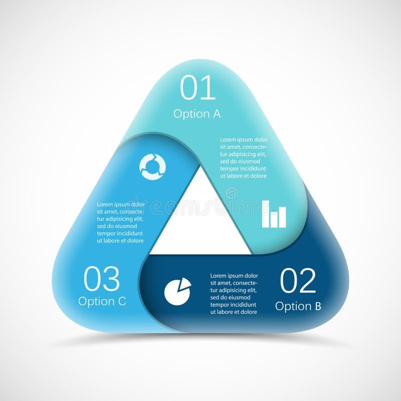 传染媒介infographic圈子的三角 模板为 向量例证