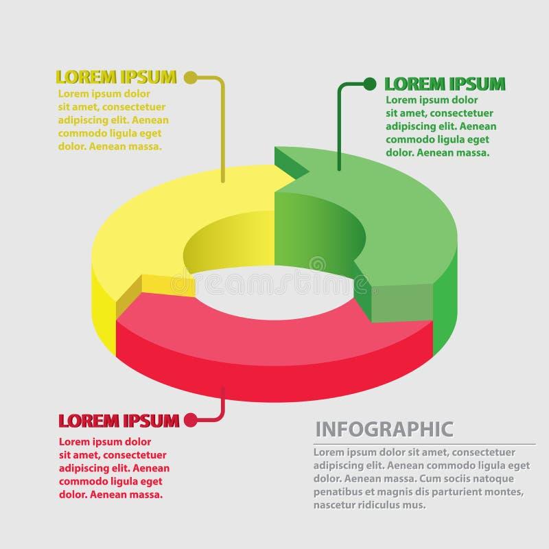 传染媒介infographic圈子的箭头 库存例证