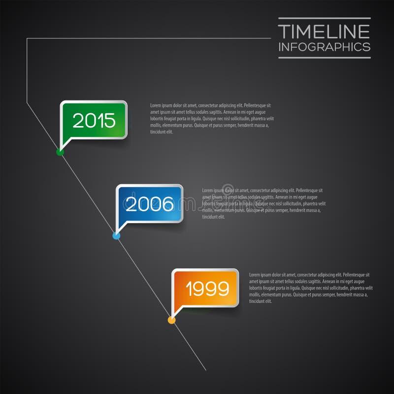 传染媒介Infographic对角时间安排报告模板 皇族释放例证