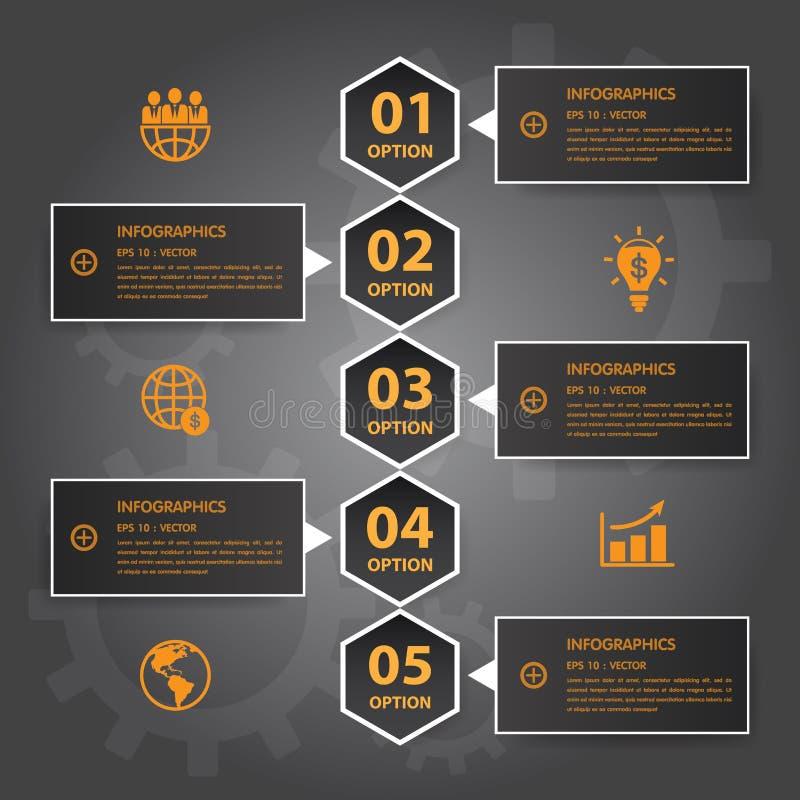 传染媒介Infographic时间安排报告模板 EPS10 皇族释放例证