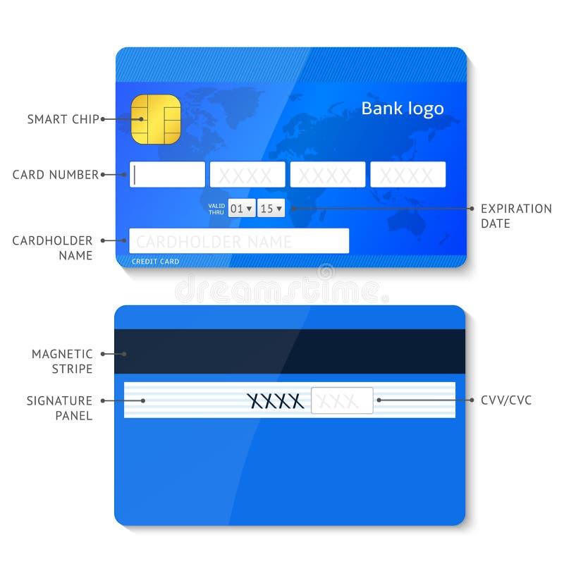 传染媒介infographic的信用卡 库存例证
