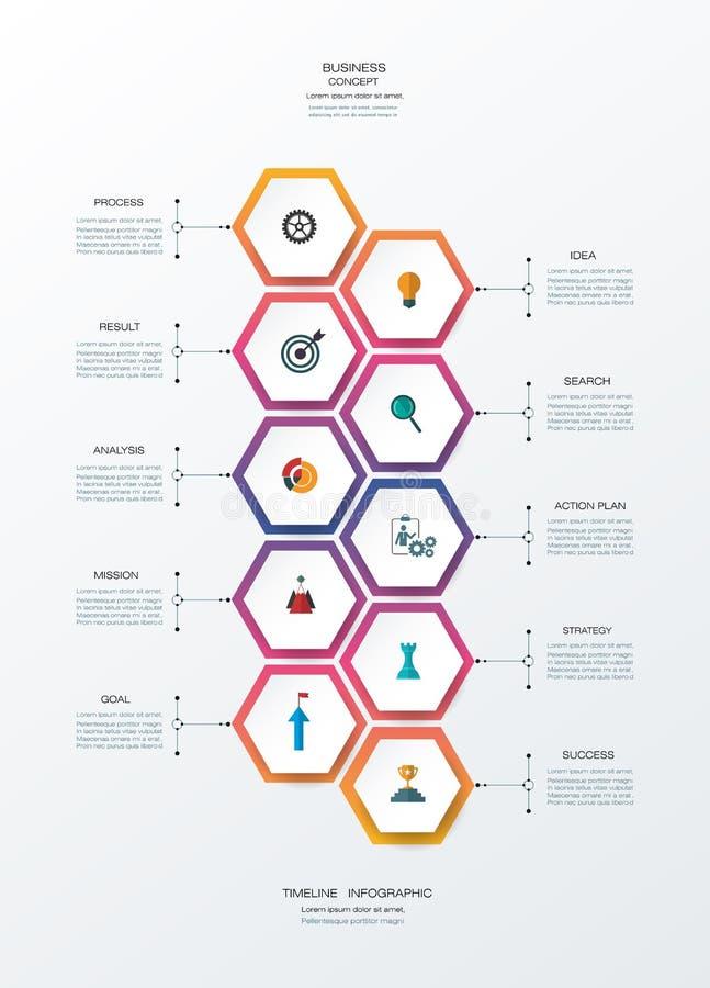 传染媒介infographics与3D纸标签的设计模板 库存例证