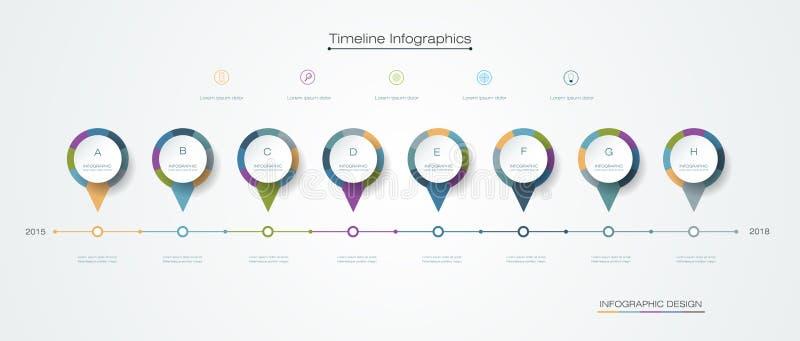 传染媒介infographics时间安排与标签设计的设计模板 皇族释放例证