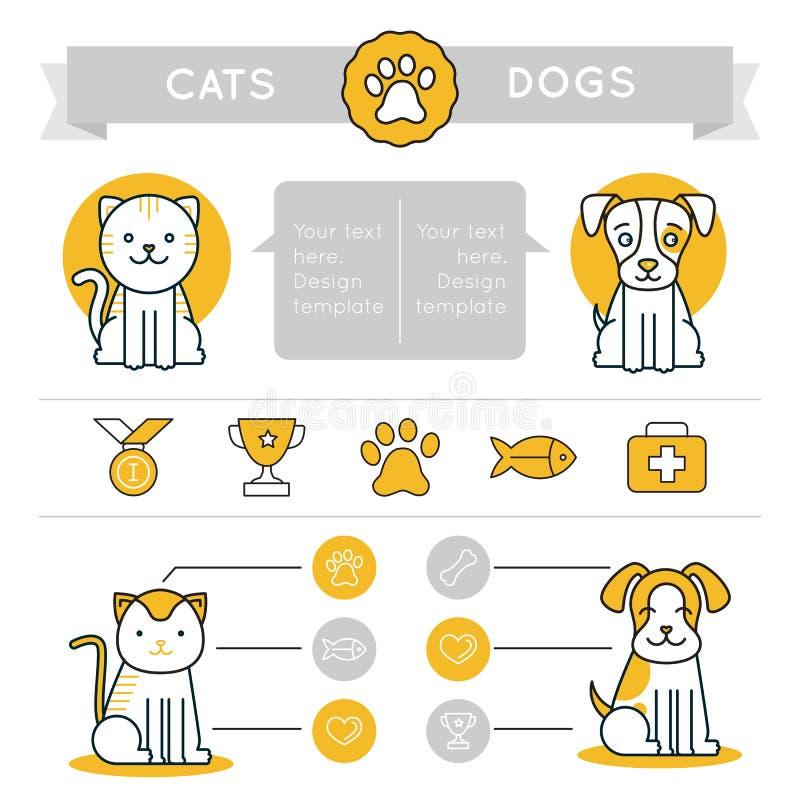 传染媒介infographics设计元素、象和徽章 向量例证