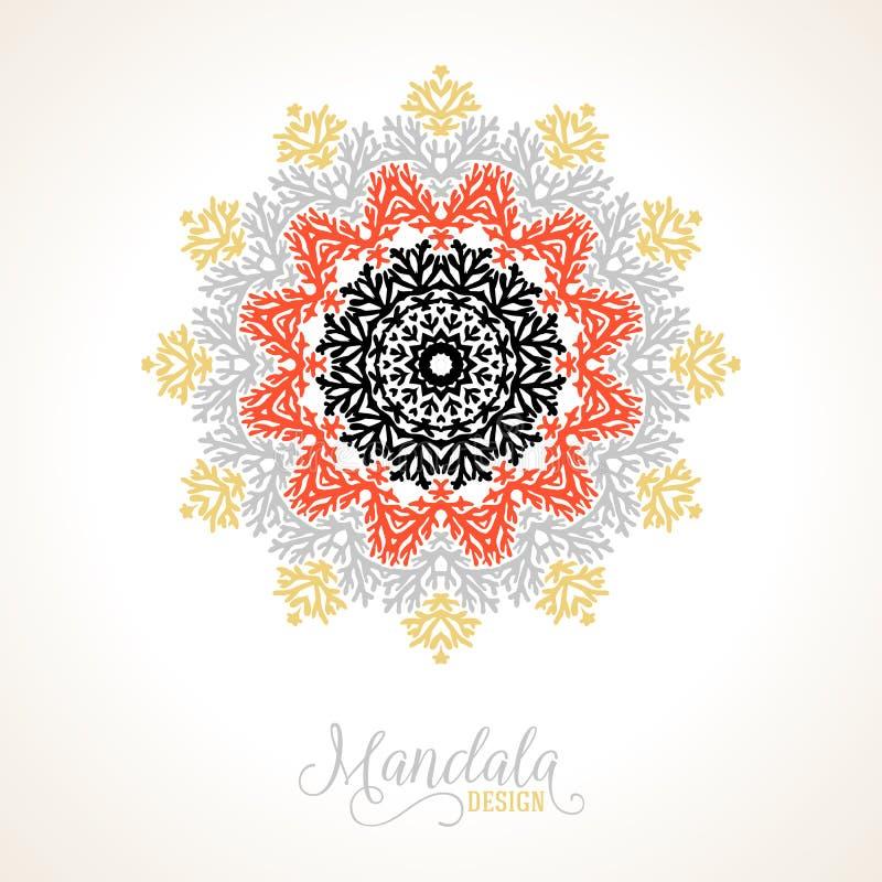传染媒介madala,圆的装饰品 皇族释放例证