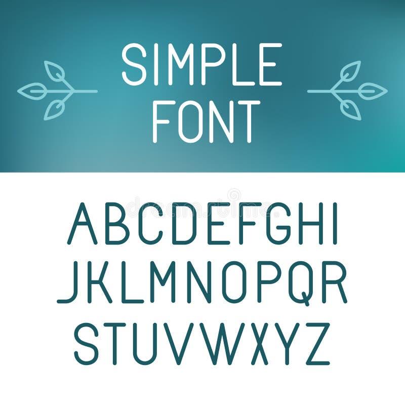 传染媒介minimalistic字体集合 皇族释放例证