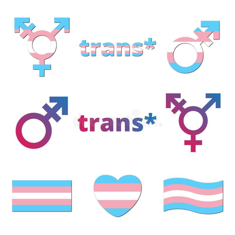 传染媒介trans性别标志 皇族释放例证