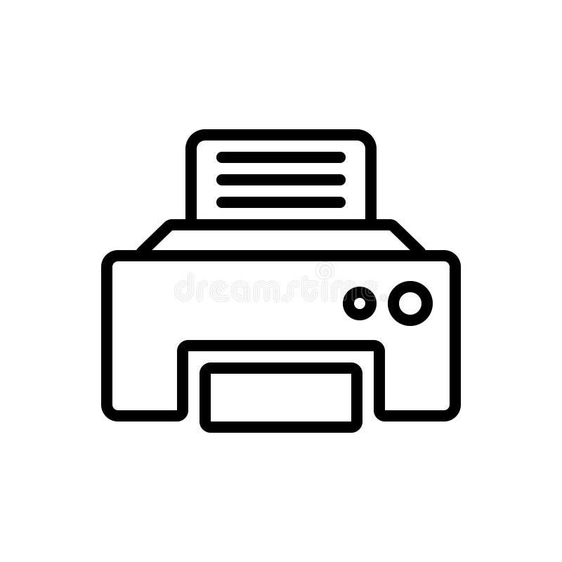 传真消息、电信和技术的黑线象 库存例证