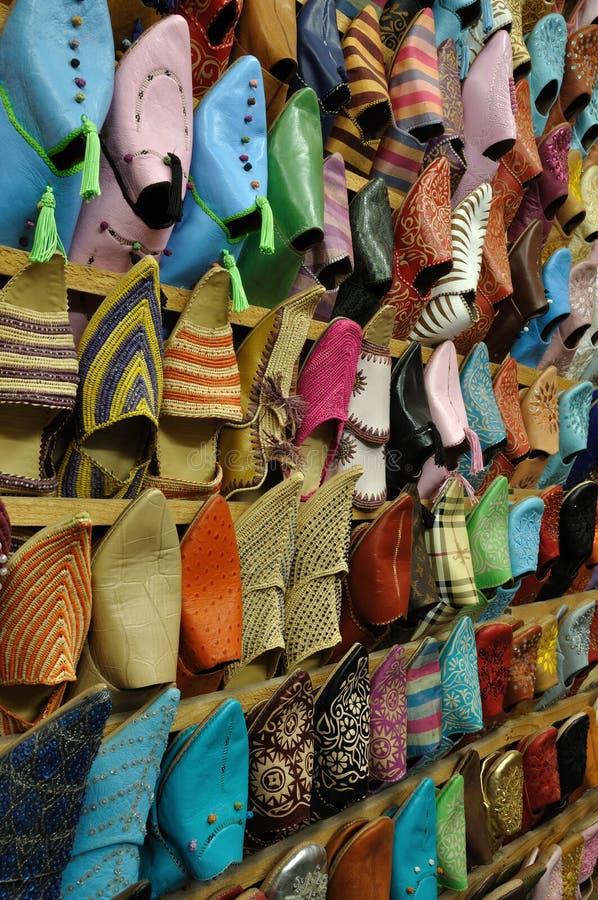 传统东方的鞋子 免版税库存图片