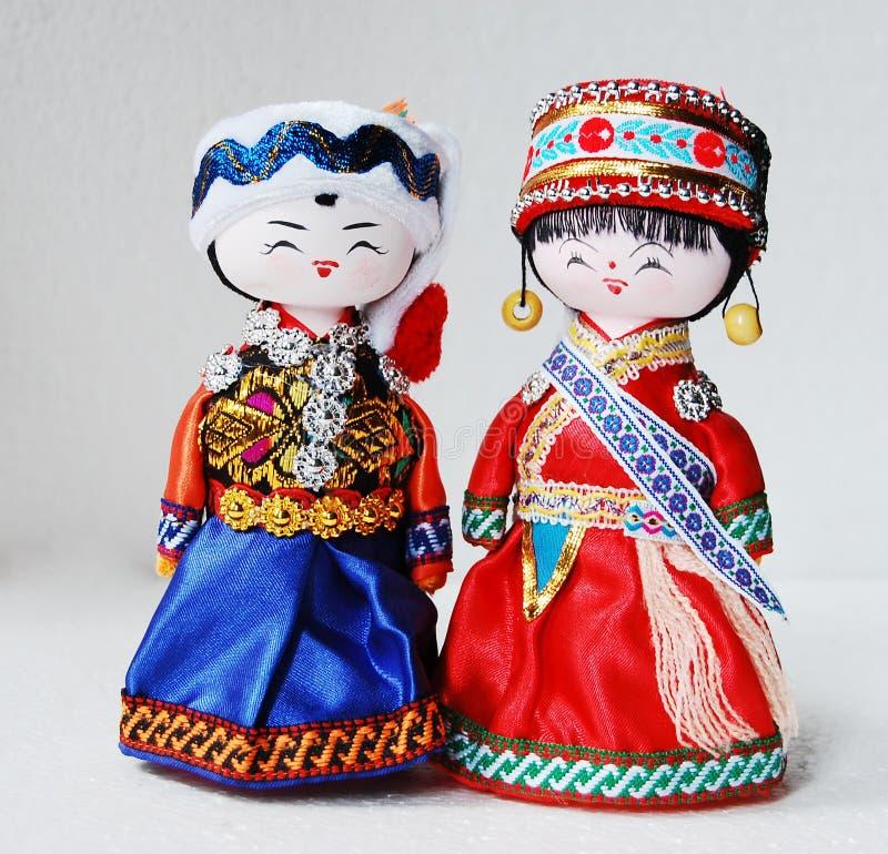 传统中国玩偶的恋人 免版税库存图片