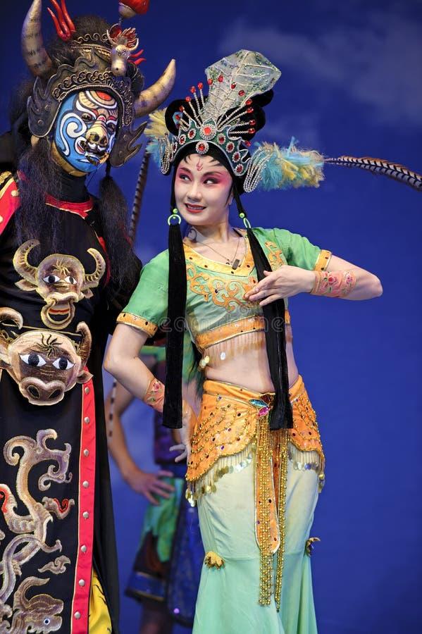 传统中国的歌剧 库存图片
