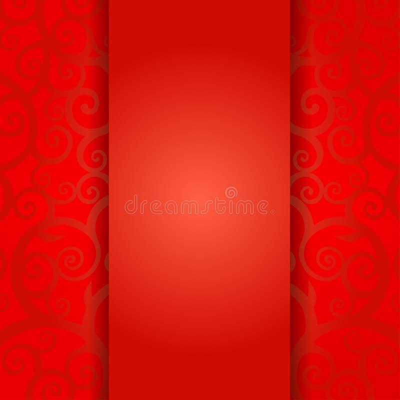 传统中国贺卡模板,触毛纹理 库存例证