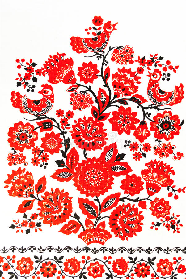 传统乌克兰刺绣 免版税库存图片