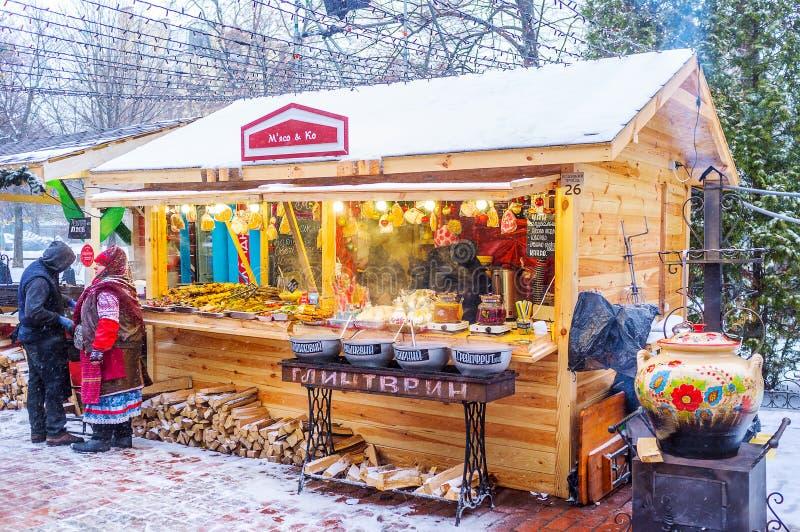 传统乌克兰街道食物 免版税库存图片