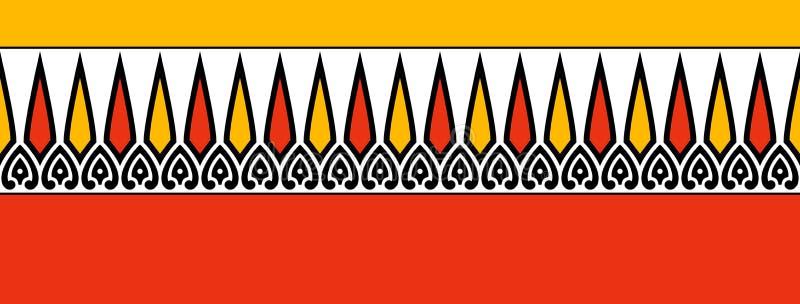 传统五颜六色的边界 库存例证