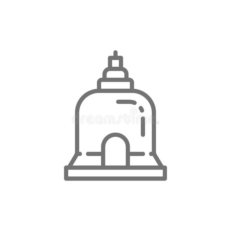 传统修道院在芭达亚,泰国线象 库存例证