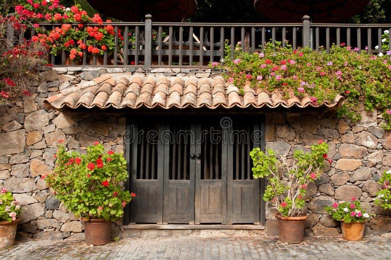 传统入口, Betancuria,费埃特文图拉岛 库存图片
