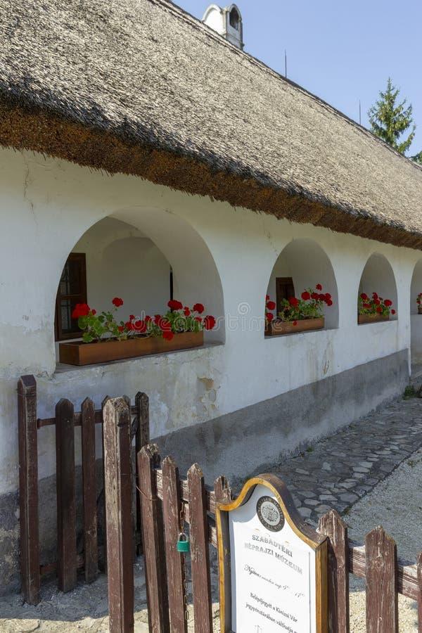 传统匈牙利房子 库存图片