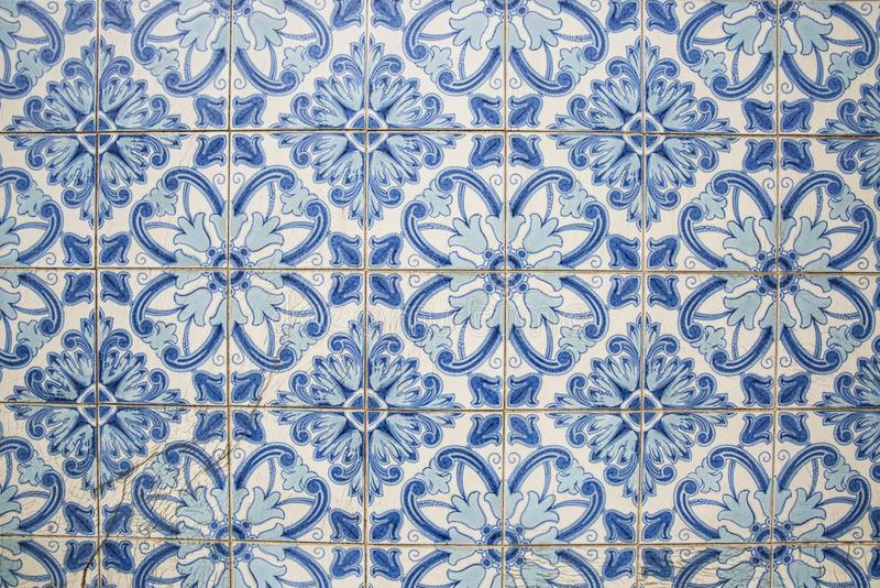 传统华丽葡萄牙装饰瓦片 免版税库存图片