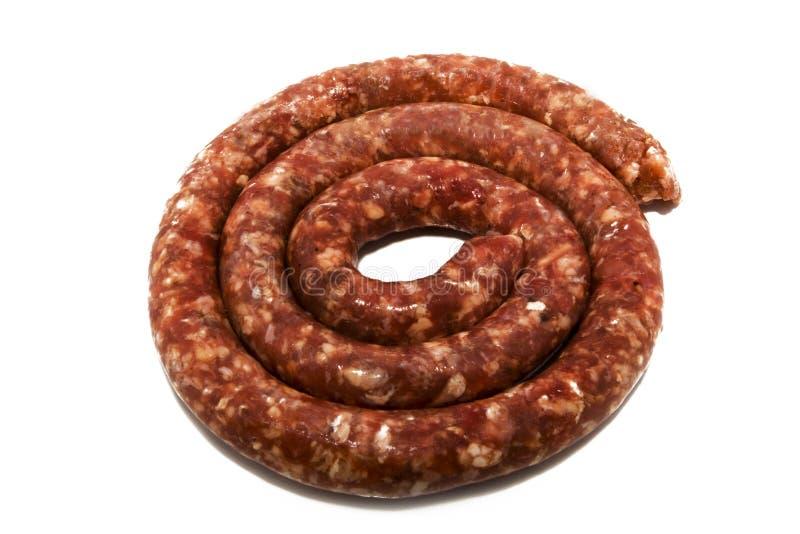 传统南部非洲的香肠 免版税库存照片