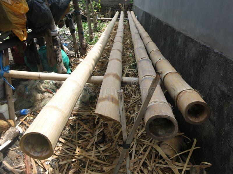 传统印度尼西亚船的生产的木头 库存照片