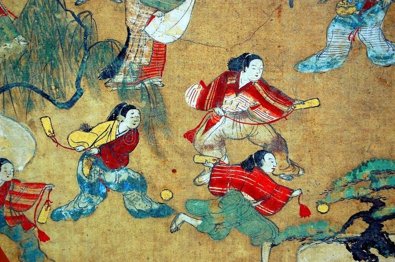 传统图象日本的风筝 向量例证