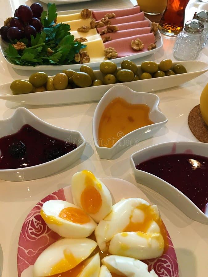 传统土耳其早餐的图象 库存图片