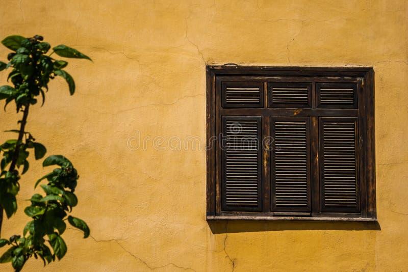 传统土耳其议院的窗口从Odunpazari,埃斯基谢希尔的 图库摄影