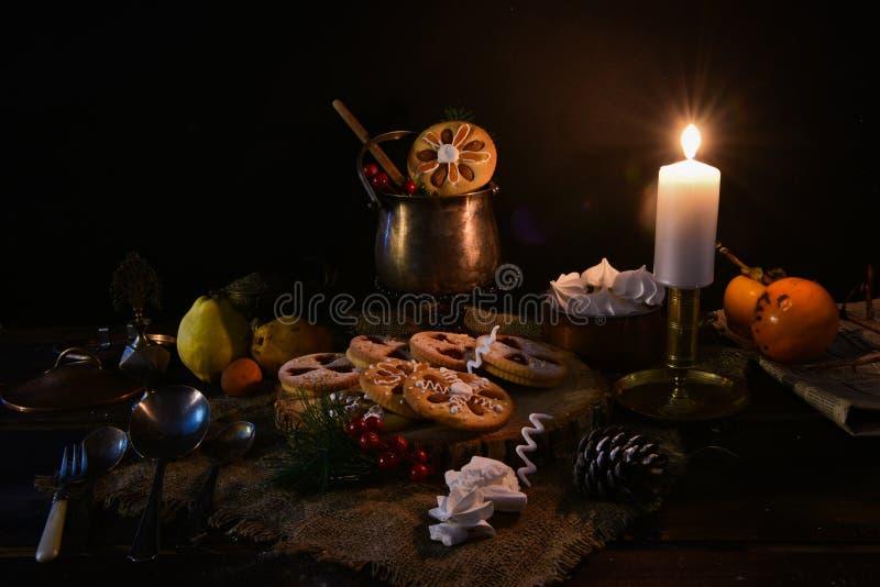 传统圣诞节曲奇饼 库存照片