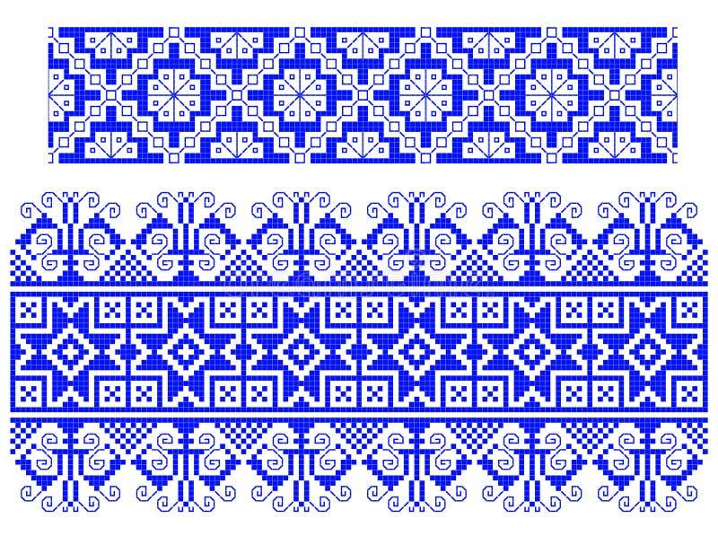 传统地毯罗马尼亚的主题 皇族释放例证