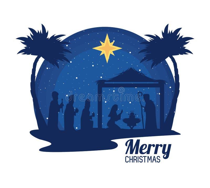 传统基督徒圣诞节 皇族释放例证