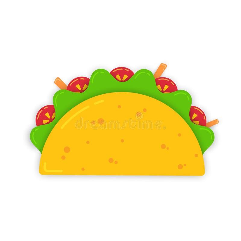 传统墨西哥炸玉米饼用红萝卜 库存例证