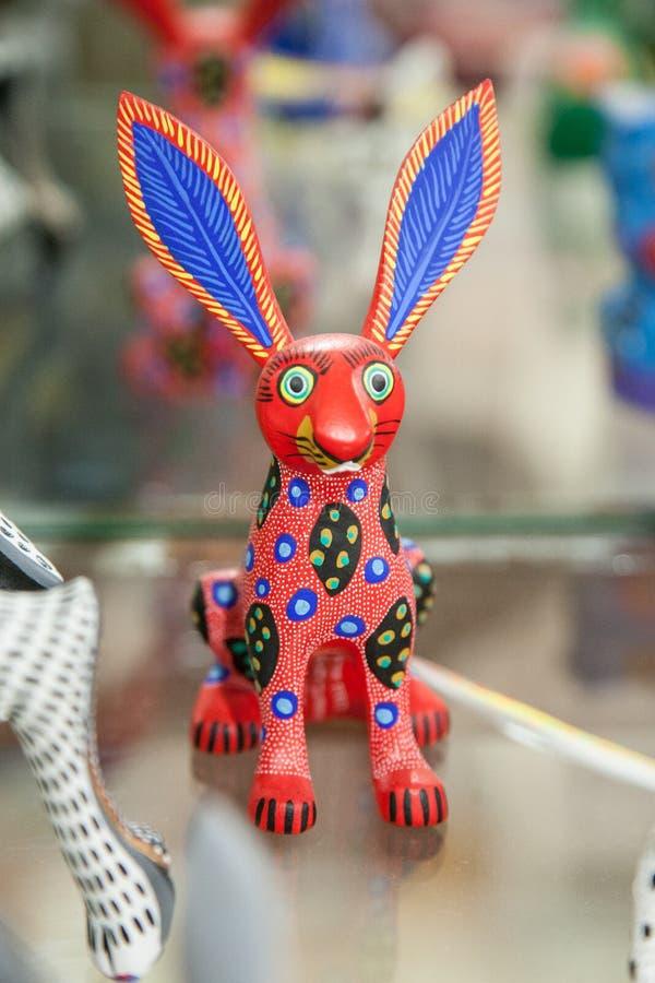 传统墨西哥符号玩具叫从瓦哈卡,我的alebrije 库存图片
