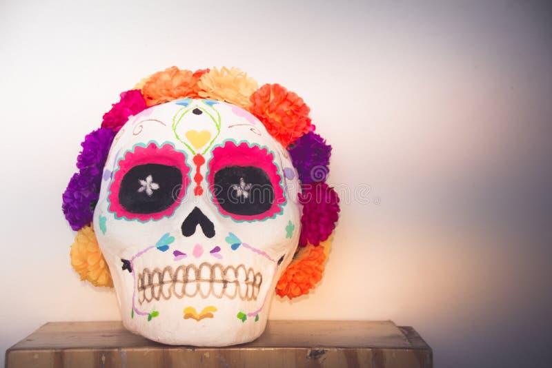 传统墨西哥catrina手工造 库存图片