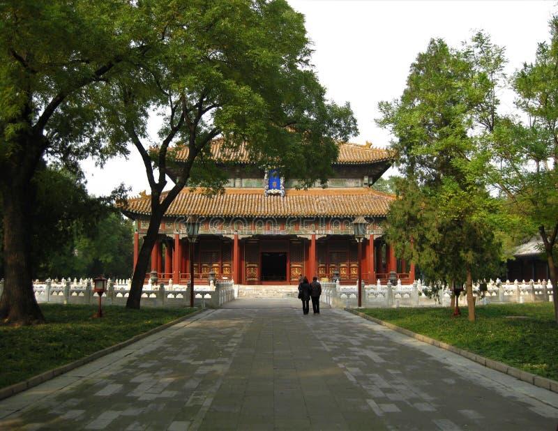 传统寺庙在北京 免版税库存图片